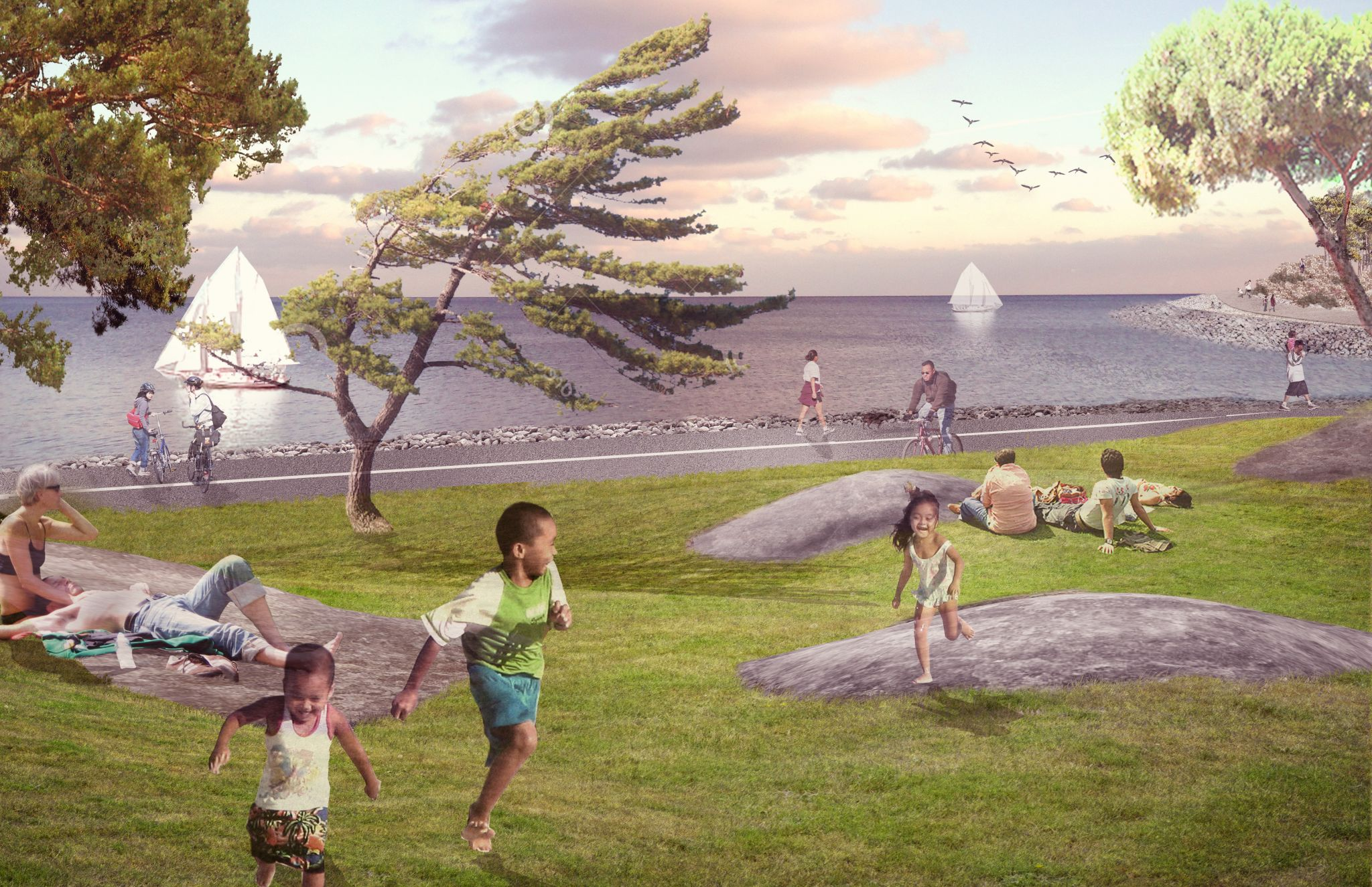 The Romantic Garden is part of the 3-ha (7.5-acre) East Island redevelopment project at Toronto's Ontario Place. Image courtesy Ontario Ministry or Tourism, Culture, and Sport