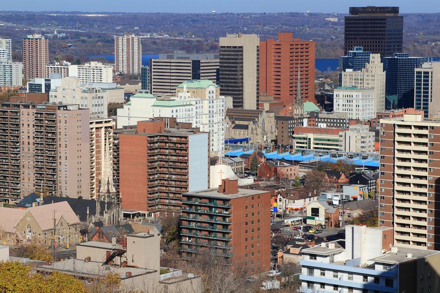 Wedding Insurance Ontario: General View Of Downtown Hamilton, Ontario, Canada