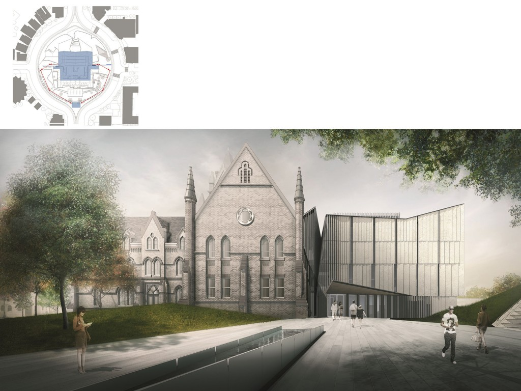 "A rendering of ""Heritage Reframed,"" the University of Toronto architecture building renovation and extension project that received an Acknowledgement prize at this year's Holcim Awards for sustainability. Images courtesy Holcim Canada"