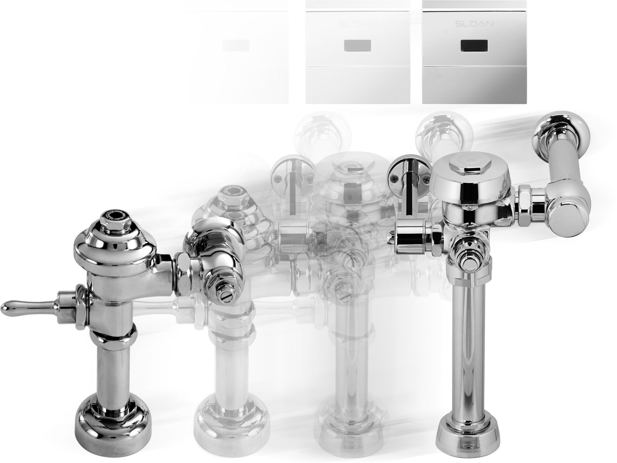 The fl ush valve design has evolved as they are engineered to consume less and less water.