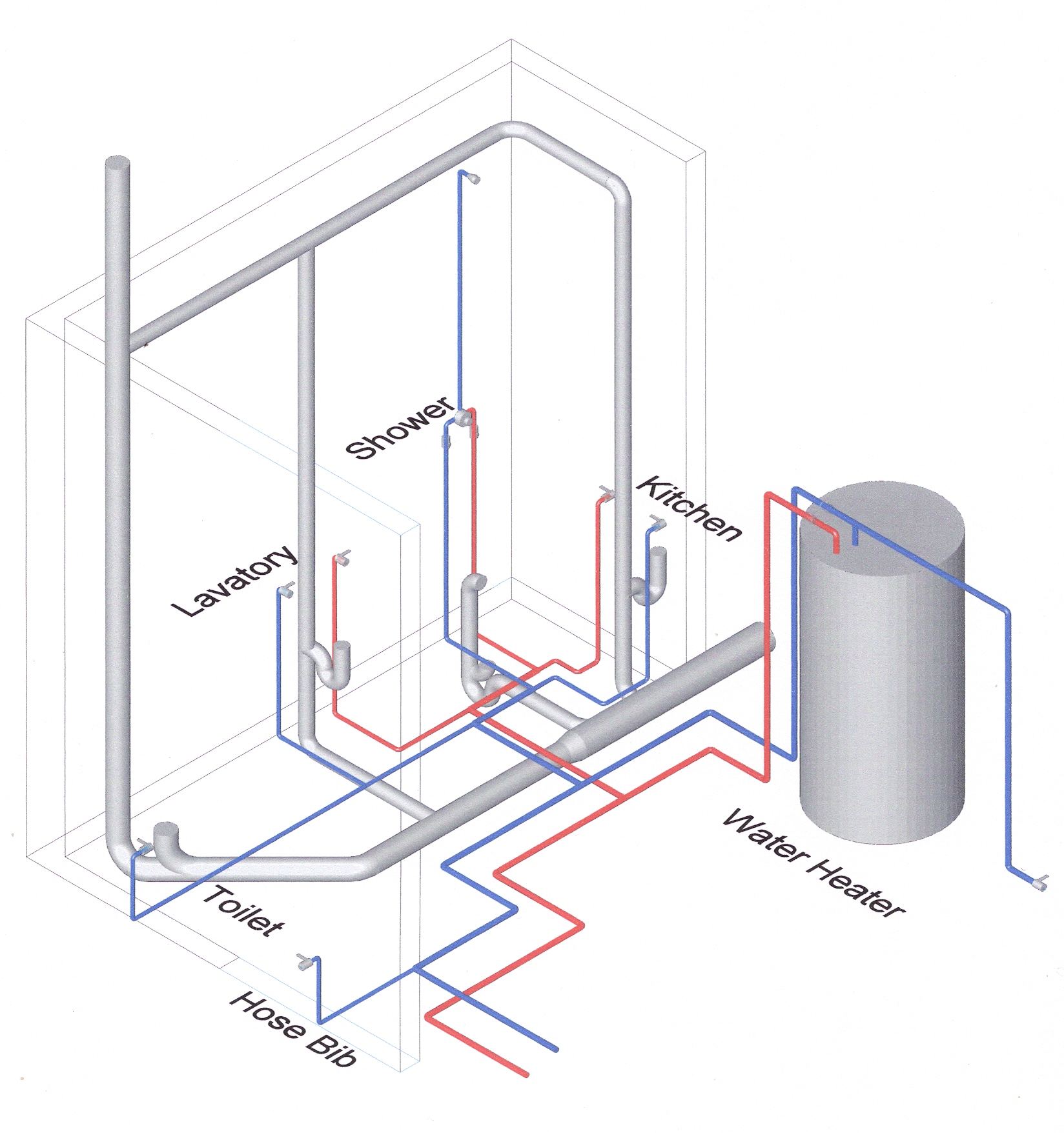 Plumbing sample construction canada for Plumbing plans examples