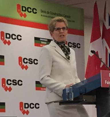 On March 5, the Hon. Kathleen Wynne became the first Ontario premier to speak at the CSC Toronto Chapter's annual trade show, No Frills. Photo courtesy Keith Robinson