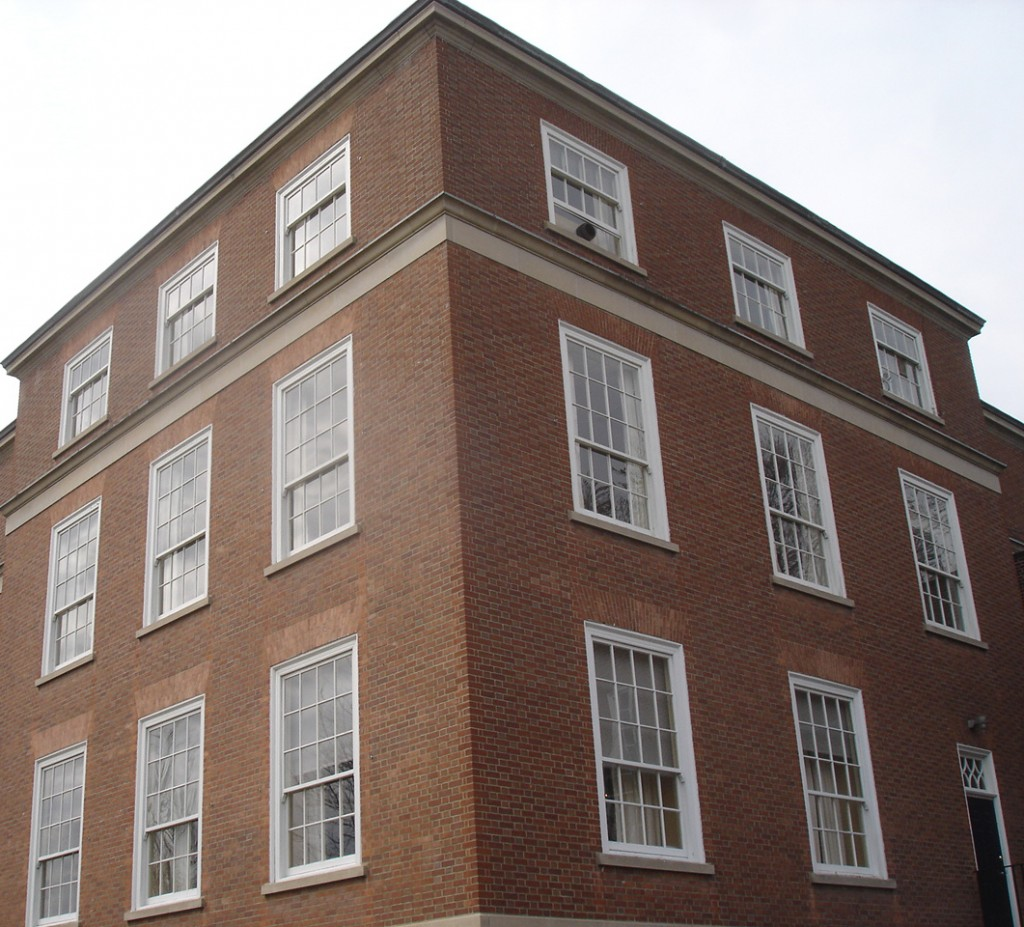 To avoid damaging the heritage status of the exterior, buildings with solid or load-bearing masonry walls often use interior insulation retrofit strategies—however, this can lead to problems if certain aspects are not taken into consideration. Photo courtesy Halsall Associates