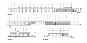 Cranbrook airport's main floor and elevation plans.
