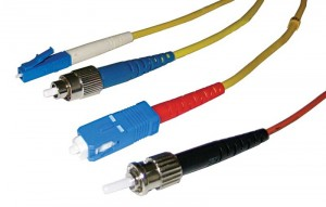 These are common fibre-optic connector types: lucent connector (LC), fixed connection (FC), subscriber connector (SC), and straight-tip connector (ST). Photo courtesy Telecom Engineering