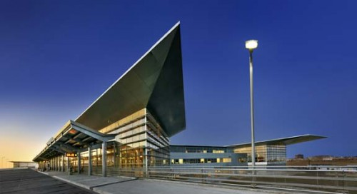 Winnipeg James Armstrong Richardson International Airport Terminal Building was certified as Silver under the Leadership in Energy and Environmental Design (LEED) program. Photo © Gerry Kopelow
