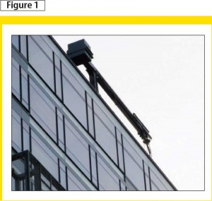 A building maintenance unit (BMU) is one way for allowing access to the façade for inspection and window maintenance.