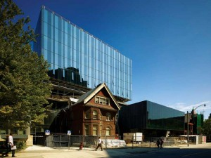 A blend of old and new architecture at the University of Toronto's Rotman School of Management.