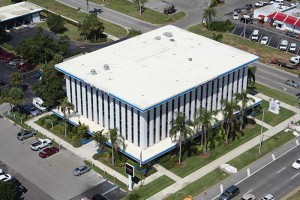 A mechanically fastened 25-year-old nominal 0.9-mm (36-mil) ketone ethylene ester (KEE) roofing system in Naples, Fla.