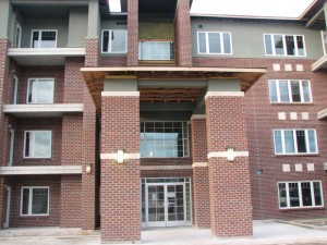 Brick is used in many of the recently developed Winnipeg condominiums and apartment blocks. Photo courtesy Euro-Enterprises