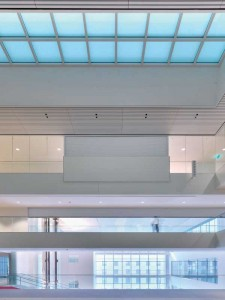 Fire-rated glass floor systems can provide fire resistance while transmitting light deep into a building's core.