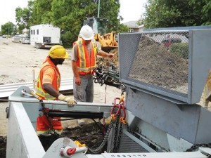 City of Regina employees operate winch controls, not the service connector system.