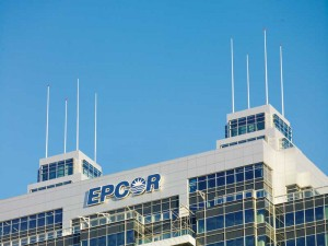 EPCOR Tower is part of a project that is intended to help revitalize an abandoned rail yard. The building's crown is becoming a symbol of urban renewal. Photo © Ian Grant