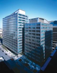 The redesign respects the landmark building's 1960s-era modernist design. Photo © Brenda Liu