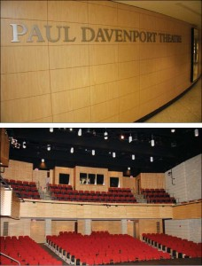 Located at the University of Western Ontario in London, the Paul Davenport Theatre boasts excellent acoustics due to the importance placed on the auditorium shell design. Photos © Paul Mayne, Western News