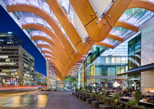 Architectural projects in British Columbia, including Guildford Aquatic Centre, were recently recognized by the Architectural Institute of British Columbia (AIBC).  Photo courtesy AIBC