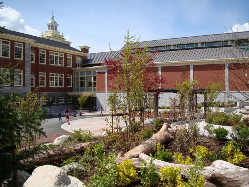 North Vancouver's Queen Mary Elementary underwent a restoration tackling sustainability and conserving heritage, which earned it Leadership in Energy and Environmental Design (LEED) Gold certification.  Photo courtesy North Vancouver School District
