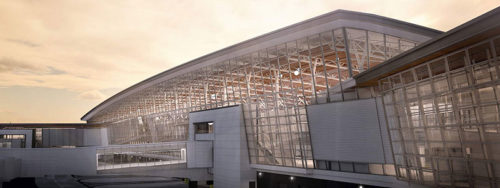 With its expansion project now complete, the Calgary International Airport has doubled its passenger service space, enhanced acoustic privacy, security, and energy-efficiency, and built the longest runway in Canada. Photo courtesy Dialog