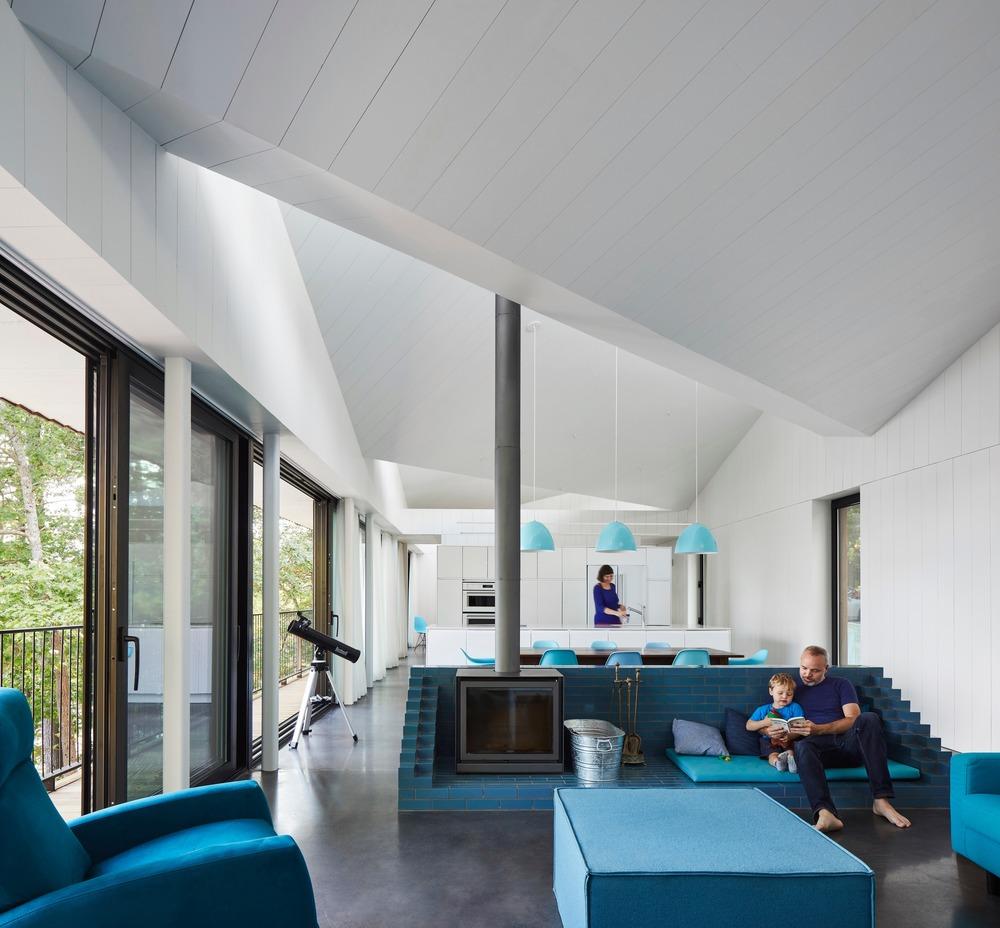 Sky House interior.