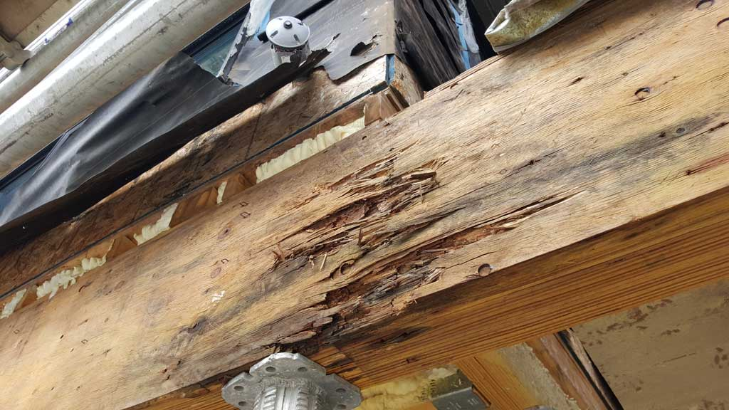 Before re-construction: Decayed beam