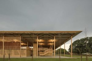 Gustavo Utrabo and Pedro Duschenes of Aleph Zero won the Royal Institute of British Architects (RIBA) International Emerging Architect 2018 for their project, the Children Village in Formoso do Araguaia, Brazil. Photo © Leonardo Finotti via ArchDaily