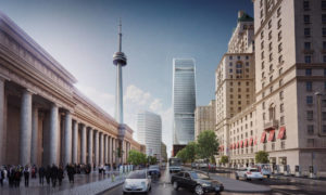 Rendering of the 46-storey office tower in downtown Toronto. Photo courtesy CNW Group/Cadillac Fairview