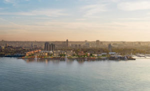 An aerial shot of Hamilton's harbourfront. Image courtesy CNW Group/Waterfront Shores Corporation