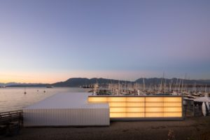 The Royal Vancouver Yacht Club's new Dock Building is an example of industrial architectural elegance crafted from a modest budget. Photo © Ema Peter