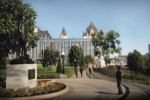 The latest design for the proposed addition to the Château Laurier hotel in downtown Ottawa. Photo courtesy City of Ottawa