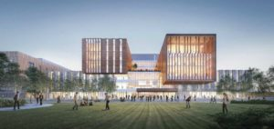 A rendering of the North Building on the University of Toronto Mississauga (UTM), home to many of the university's humanities and social science departments. Photo courtesy UTM