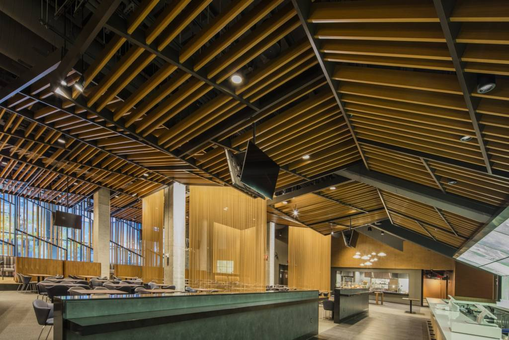 The Target Center Arena In Downtown Minneapolis Employed A Customized Metal Ceiling Solution From Hunter Douglas