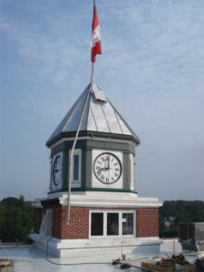 Existing condition of the clock tower in 2013.