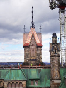 The West Block Rehabilitation Project at Parliamentary Hill, Ottawa, was praised for its recent roof replacement. Photo courtesy EVOQ Architecture