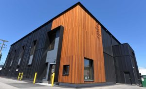 The Wood Innovation Research Lab (WIRL) at the University of Northern British Columbia (UNBC) exceeds the exacting internationally recognized Passive House standard for energy efficiency. Image courtesy UNBC