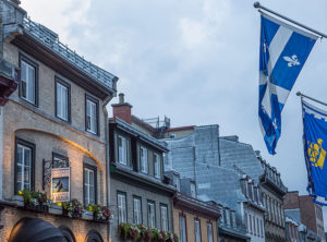 Quebec flag in Old Quebec
