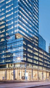 A connected lighting system at the RBC Waterpark Place in Toronto creates a cutting-edge workspace for employees, and offers facilities managers clear visibility on operations.