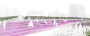 Design firm Lemay will design Montréal's latest public space, the Place des Montréalaises. Image courtesy Lemay