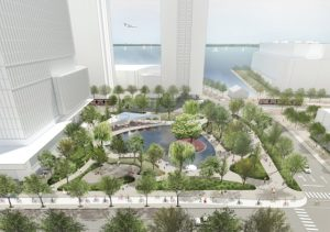 An artist rendering of Love Park by Claude Cormier et Associés. Images courtesy Waterfront Toronto