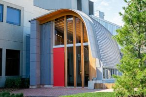 Exterior of Odeyto, Seneca College's new Indigenous centre at its Newnham campus, Toronto. Photo courtesy Seneca College