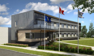 A rendering of the Valleyview Town Hall in Alberta.