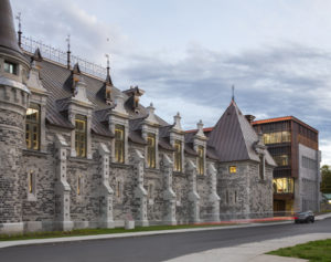 The restoration of the Voltigeurs de Québec Armoury required extensive conservation work as well as construction of a contemporary addition to the original building. Photo © Stéphane Groleau