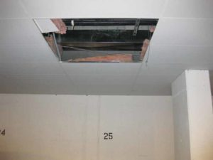 Access in acoustical drop ceilings should be designed properly.