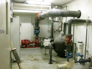 This mechanical room offers an example of the challenges of service penetrations.