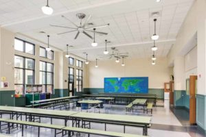 Schools are employing energy-efficient ceiling fans to create comfortable and stimulating learning environments.