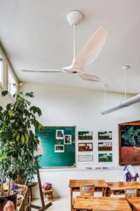 Air circulation from small ceiling fans improves the indoor environmental quality and positively impacts overall performance and productivity of students.