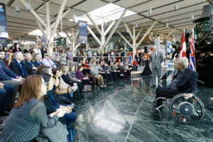 The Vancouver International Airport (YVR) received the Accessibility Certified Gold rating under the Rick Hansen Foundation Accessibility Certification (RHFAC) program for removing many accessibility barriers. Photo courtesy RHF
