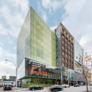 Montréal's Wilder Building Espace Danse combines architecture with sustainable design. Photo © David Boyer