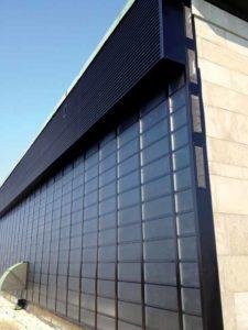 Solar wall at CHUL allowing fresh air preheating.