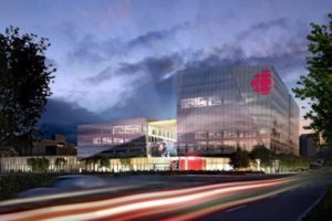 Rendering of the new Canadian Broadcasting Corporation (CBC)/Radio-Canada building in Montréal. Image courtesy Johnson Controls