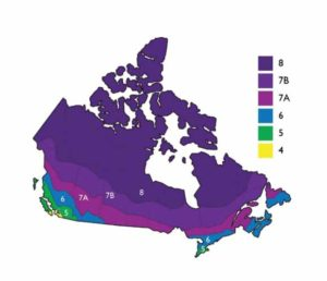 This map shows the various climate zones for energy compliance.